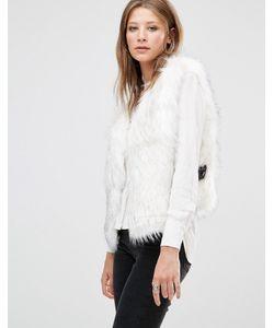 Jayley | Белый Жилет Из Искусственного Меха Luxurious Белый