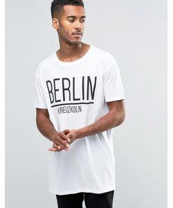 Brave Soul | Удлиненная Футболка Berlin Белый