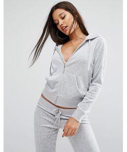 Juicy Couture | Велюровая Куртка Bling Серебряный