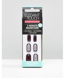 ELEGANT TOUCH   Накладные Ногти Для Быстрого Маникюра Purple Glitter Фиолетовый