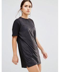 Uncivilised   Платье В Замшевом Стиле Nevada Черный