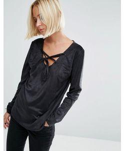 Uncivilised   Рубашка Из Искусственной Замши Черный