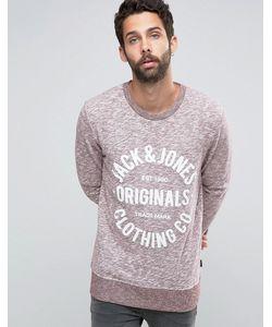 Jack & Jones | Меланжевый Свитшот Красный