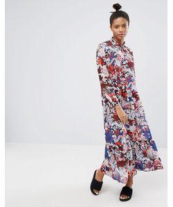 Monki | Платье Макси С Цветочным Принтом