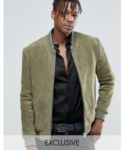 Black Dust | Замшевая Курткапилот Зеленый