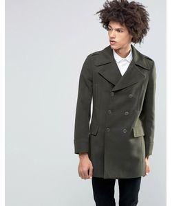 Feraud | Пальто Милитари Из 80 Итальянской Шерсти Premium Зеленый