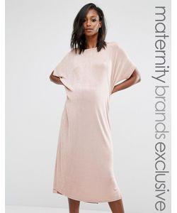 Missguided Maternity   Oversize-Платье Для Беременных Бежевый
