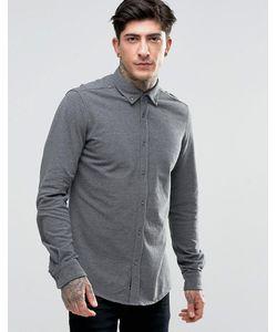 SCOTCH & SODA | Темно-Серая Меланжевая Рубашка Из Эластичного Пике Серый