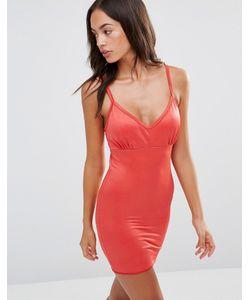 Smooothees | Моделирующее Платье-Комбинация С Бретельками Красный