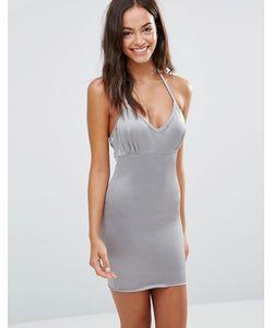 Smooothees | Моделирующее Платье-Сорочка С Лямкой Через Шею Серый