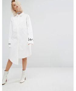 KKXX   Платье-Рубашка Со Ступенчатой Кромкой Белый