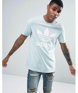 adidas Originals | Голубая Футболка С Логотипом-Трилистником Bq5392