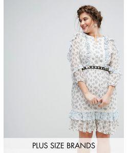Truly You   Короткое Приталенное Платье В Цветочек С Поясом