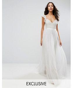 Needle & Thread | Платье Макси Из Тюля С Рюшами На Рукавах