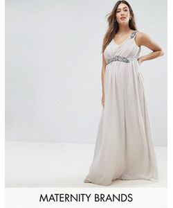 Mama Licious | Платье-Премиум Макси С Отделкой Mama.Licious