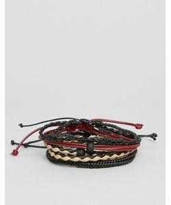 Aldo | Набор Из 4 Браслетов Плетеные И Гладкий