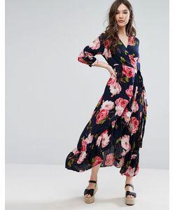 Qed London | Платье Макси С Принтом И Запахом
