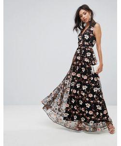 True Decadence | Платье Макси С V-Образным Вырезом И Вышивкой