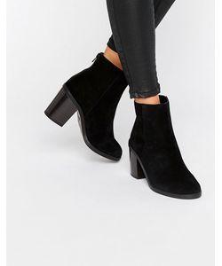 New Look | Замшевые Ботинки На Блочном Каблуке