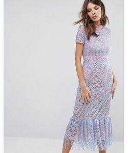 Foxiedox   Кружевное Платье Миди Flourite