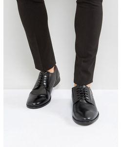 Base London | Черные Кожаные Туфли Дерби Ford