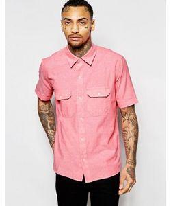 American Apparel | Рубашка Классического Кроя Из Шамбре С Короткими Рукавами