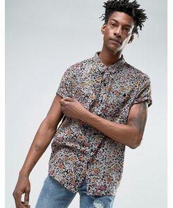 Rollas | Черная Рубашка С Цветочным Принтом
