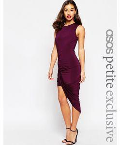 ASOS PETITE | Асимметричное Облегающее Платье Без Рукавов Черный