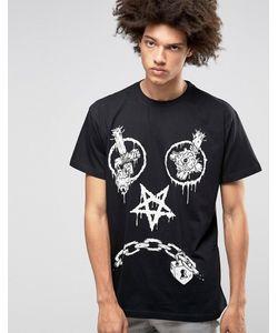 LONG CLOTHING   Oversize-Футболка Long X Mishka Vex Черный