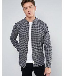 Hollister | Черная Оксфордская Рубашка Классического Кроя В Клетку