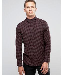 Selected Homme | Фланелевая Рубашка Слим В Клеточку Красный