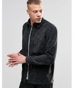 Weekday   Замшевая Рубашка-Куртка Mike Серый