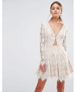 Style Stalker | Платье Мини С Длинными Рукавами Stylestalker Белый