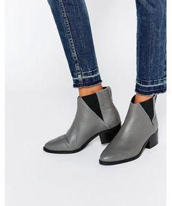 Pieces | Серые Кожаные Ботинки Челси Drina Серый