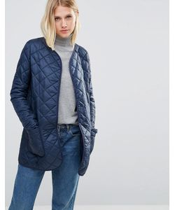 Cooper & Stollbrand | Quilted Bomber Jacket In Navy Темно-Синий