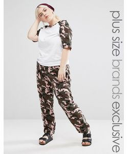 One Day Plus | Slim Leg Jogger In Camo Print Мульти