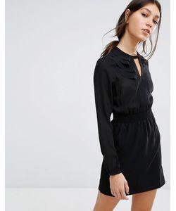Vero Moda | Платье Мини С Присборенной Талией Черный