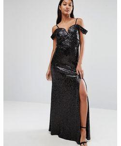 TFNC | Платье Макси С Пайетками Черный