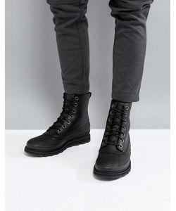 Sorel   Черные Ботинки Из Водонепроницаемой Кожи Madson