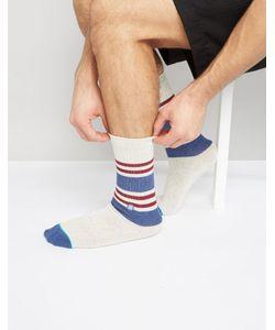 Stance | Белые Спортивные Носки С Полосками