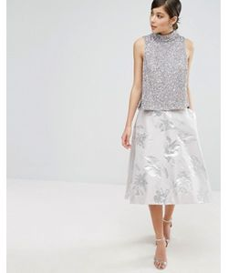 Coast | Aviero High Low Jacquard Skirt