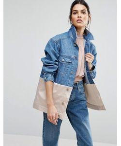 Asos | Джинсовая Куртка С Розовой Атласной Вставкой