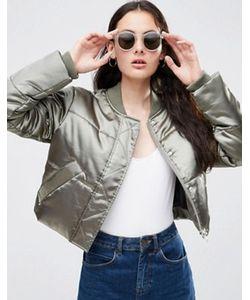 Asos | Атласная Дутая Куртка