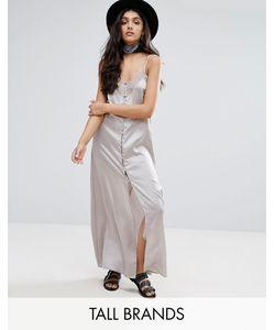 Glamorous Tall | Платье-Комбинация С Кружевными Вставками