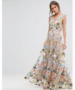 True Decadence | Платье Макси С Вышивкой