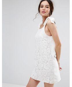 MISSGUIDED | Цельнокройное Платье С Завязками На Плечах