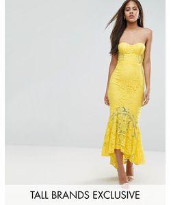 Jarlo Tall | Кружевное Платье-Бандо Миди