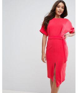 Asos | Платье С Разрезом И Поясом С D-Образной Пряжкой