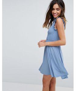 Asos | Короткое Приталенное Платье С Присборенной Отделкой
