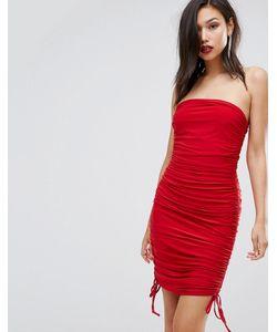 Club L | Облегающее Платье-Бандо Со Сборками
